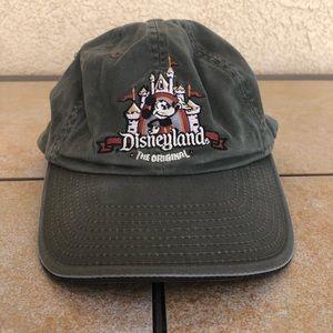 Vintage Embroidered Olive Green Disneyland Hat